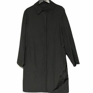 Burberry Vintage Silk Blend Trench Coat in Black